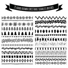 Try some easy Christmas doodles. (Click the photos to enlarge.) | 21 Fun And Festive Christmas Bullet Journal Ideas