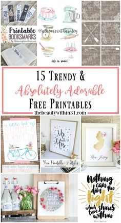 Absolutely Adorable Free Printables for your home