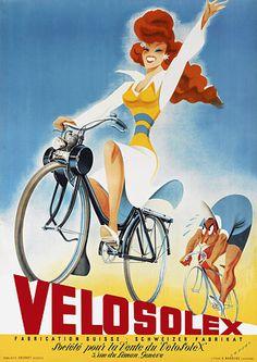 Velosolex Mopeds  http://www.vintagevenus.com.au/vintage/reprints/info/TR232.htm