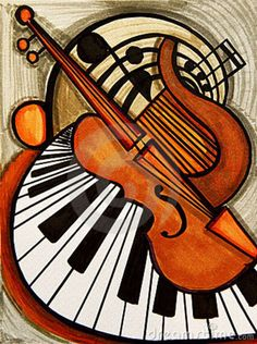 Presenting jazz radio channels for your enjoyment. Listen for free and enjoy countless hours of the best jazz music around. Music Painting, Music Artwork, Musik Illustration, Gypsy Jazz, Arte Pop, Classical Music, Art Lessons, Art Projects, Musicals