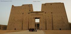 Sunrise Ceremony at the Temple of Horus, Edfu, Egypt.