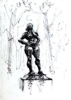 Statue II - HHugon - paris tuileries - Hélène HUGON - Peinture, Dessin, Photo, Kid Project | CROQUIS