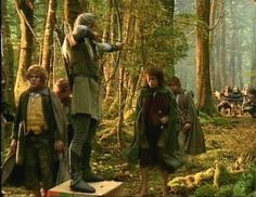 How they dealt with height differences while filming in 'Lothlorien'