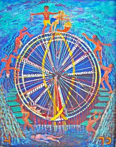 Thelma Appel, THE WHEEL OF FORTUNE from the Journey of the Tarot Series, 2009 Oracle Tarot, Wheel Of Fortune, Mark Rothko, New Age, Tarot Cards, Figurative Art, Religion, Abstract Art, Artsy