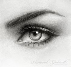 Eye drawing Original hand made pencil art by ArtworkbyGabrielle