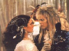Jim Henson Movies - Labyrinth - Jennifer Connelly and David Bowie David Bowie Labyrinth, Labyrinth 1986, Labyrinth Movie, Jareth Labyrinth, Paul Bettany, Movies Showing, Movies And Tv Shows, Sarah And Jareth, Fraggle Rock