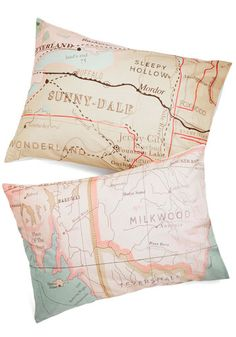 Map Your Dreams Pillowsham Set, #ModCloth