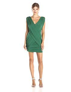 BCBGMAXAZRIA Women's Alondra Ruched V-Neck Dress, Dark Evergreen, Large BCBGMAXAZRIA http://www.amazon.com/dp/B00YEOU8KA/ref=cm_sw_r_pi_dp_UOMwwb0NSJ27A