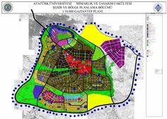 Atatürk Üniversitesi Şehir ve Bölge Planlama Bölümü Gaziantep ili  1/10000 PLAN