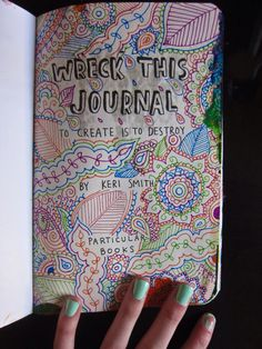 complete a wreck this journal