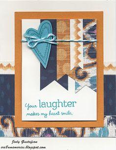 "Cre8n' Memories: We're Blog Hoppin' With ""You Are My Happy"" Sarita card-Laughter. #Sarita #CTMH"
