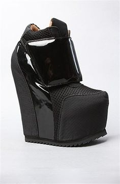 "Jeffrey Campbell 7"" ""The Succession"" wedge shoes, $215"