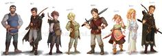 #Ranger's #Apprentice #Zwiadowcy #Halt #Gilian #Will #Baron_Arald  #Horace #Alyss #Evanlyn #Jenny