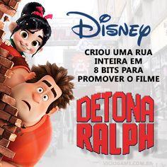 Disney criou rua em 8 bits para promover o filme Detona Ralph. Leia o artigo completo: http://wp.me/p90oS-fD