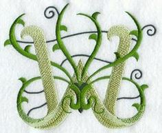 Machine Embroidery Designs at Embroidery Library! - Vines Alphabet