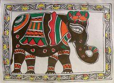 Madhubani elephant art http://images.fineartamerica.com/images-medium/6-madhubani-sarita-yadav.jpg