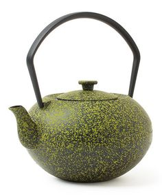 Another great find on #zulily! Green Speckled Cast Iron Teapot #zulilyfinds
