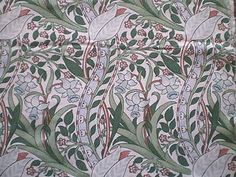 Vintage Liberty Cotton Interiors Fabric Panel Trent William Morris Design | eBay