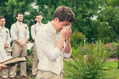 My wish is that this will be your reaction on our wedding day.