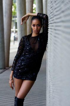 Amy by marco palmer on 500px  #Beauty #FFM #Fashion #Female #Frankfurt #Outdoor #Women #beautiful #blackdress #darkhair #blackhair #schwarzeskleid