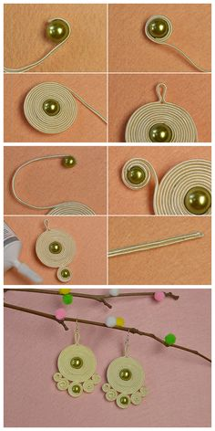 Learn from #Beebeecraft how to make #screwthread earrings.