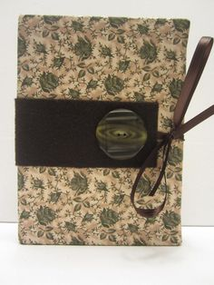 Green and Tan Floral Pattern with Large Green by TheElegantLady