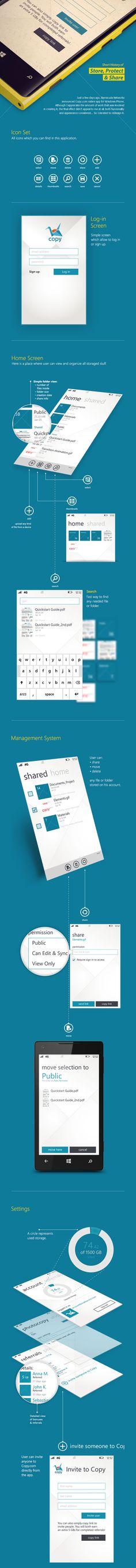 Copy.com Windows Phone App – Redesign