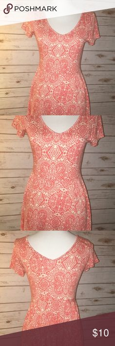 Coral sundress Coral sundress so cute, fun and very flattering Dresses