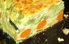 Receta de Pastel de Verduras al Microondas
