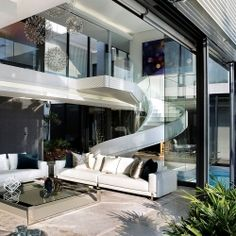 6th 1448 Houghton Residence by SAOTA and Antoni Associates. My home better have this sexy staircase! loveloveLOVE
