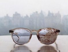 "John Lennon's glasses, posted today (3.20.13) by Yoko Ono on her Twitter acount.   She tweeted  ""Over 1,057,000 people have been killed by guns in the USA since John Lennon was shot and killed on December 8, 1980."""