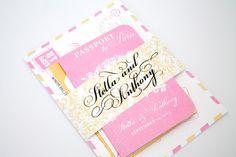 passport to love wedding invitation   invitations destination weddings - http://emmalinebride.com/invites/invitations-destination-weddings/