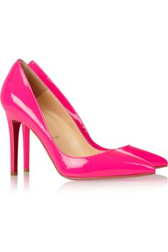 #Christian Louboutin #The Pigalle 100 patent-leather pumps #NET-A-PORTER.COM
