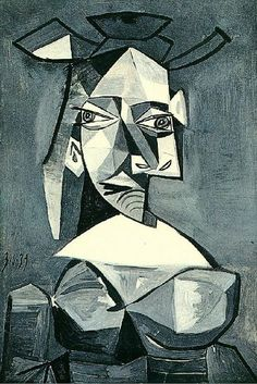 Untitled Pablo Picasso Date: 1939 Style: Cubism, Surrealism Period: Neoclassicist & Surrealist Period Genre: portrait Media: oil, canvas Tag: female-portraits Location: Hermitage Museum, Saint Petersburg, Russia Dimensions: 81 x 54 cm Cubist Portraits, Picasso Portraits, Art Picasso, Picasso Paintings, Pablo Picasso Cubism, Georges Braque, Giacometti, Cubism Art, Kandinsky