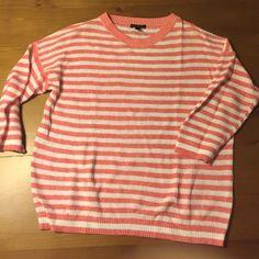 J. Crew linen/cotton striped sweater Such a fun color! A classic linen/cotton J. Crew sweater. Perfect condition. J. Crew Sweaters Crew & Scoop Necks