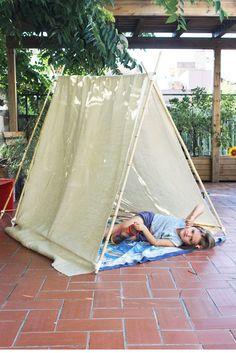 teepee tent · tienda indio DIY