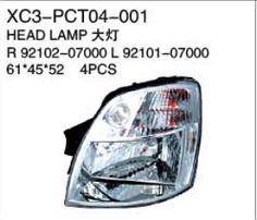 XC3-PCT04-001 Head lamp R92102-07000 L92101-07000 61*45*52 4PCS Auto Parts,car body parts,head lamp,fog lamp,tail lamp,bumper,hood,side mirror replacement http://www.jsxcauto.com/