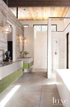Wood-Clad Master Bath: