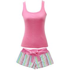 gorgeous tank top pajamas sets | shop intimates sleepwear pajamas pink womens pajama set tank top shirt ...