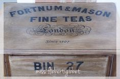 British Tea Chest End Tables - Miss Flibbertigibbet