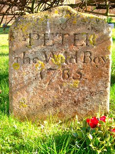 Grave of Peter the Wild Boy, St Mary's Church, Northchurch, Hertfordshire. I'm very curious as to the story behind that headstone.