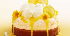 With a luscious layers of lemon cake, lemon curd, baked meringue and fresh cream, this is one decadent dessert.