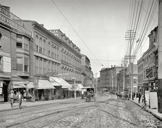 Middle Street, Portland Maine 1904 #scenesofnewenland #soNE #soMEhistory #soME #Maine #ME #history