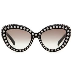 bca33059190 Prada - Studded cat-eye sunglasses - The silver-tone stud embellishment  cleverly contradicts