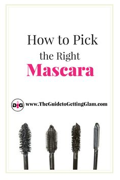 Great makeup artist tips on how to pick the right mascara. Want to know which mascara is best for your eyelash type? Read more to find out great makeup artist tips. Best Makeup Tips, Makeup Guide, Best Makeup Products, Makeup Ideas, Makeup Tricks, Makeup Inspiration, Beauty Makeup, Eye Makeup, Beauty Tips