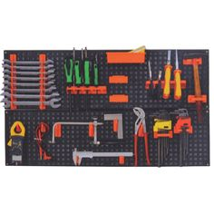 Pegboard kit 800 x 480 mm, 21 elements, plastic tool board: Amazon.co.uk: DIY & Tools