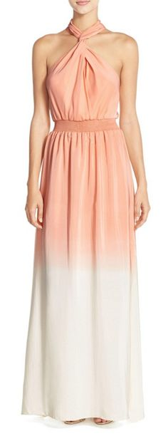 Peachy Ombre #wedding #fashion