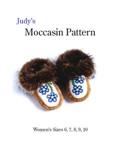Women's moccasin pattern all sizes download by JudyKavanagh
