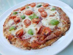 PIZZA GLUTÉNMENTESEN RIZSLISZTBŐL – Gluténmentes Chef blog - Átol Tibor Chef Blog, Mozzarella, Vegetable Pizza, Cake Recipes, Paleo, Gluten Free, Vegetables, Food, Glutenfree