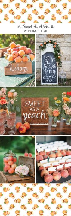 We love when people add this sweet treat to their wedding color palette, and couldn't resist some of our favorite peach inspiration ideas! Peach Bridal Showers, Peach Baby Shower, Wedding Reception Decorations, Wedding Mandap, Stage Decorations, Wedding Stage, Peach Party, Baby Birthday, Birthday Ideas